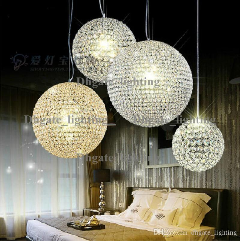 Led crystal ball chandelier lamp living room lights restaurant bar led crystal ball chandelier lamp living room lights restaurant bar creative sphere chandelier ballroom chandelier hanging lamps that plug in plug in hanging mozeypictures Gallery