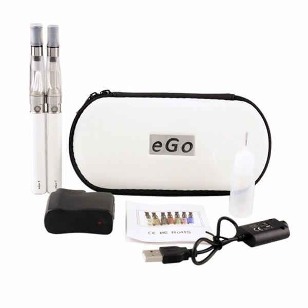 Ego t ce4 double starter kit 1.6ml ce4 atomizer clearomizer 650 900 1100mAh ego-t battery zipper case colorful vs mt3 evod kit