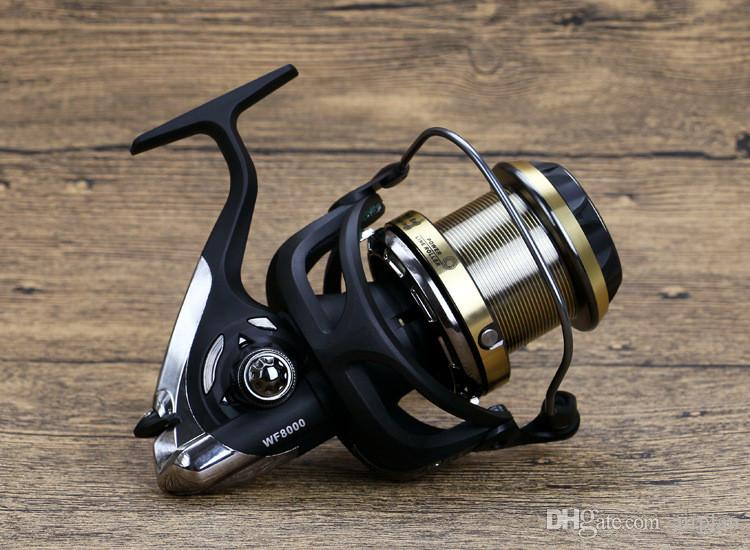 WF4000-9000 far cast wheel vessel spinning fishing reels rocker self-locking function pesca sea fishing wheel tackle