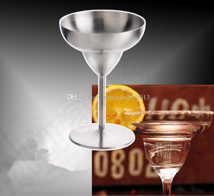 Coupe de verre à vin en acier inoxydable Coupe à vin Tasse à bière Tasse à cocktail en verre à cocktail Martini Tasse à bière en verre Margarita Tasse à bière b1267