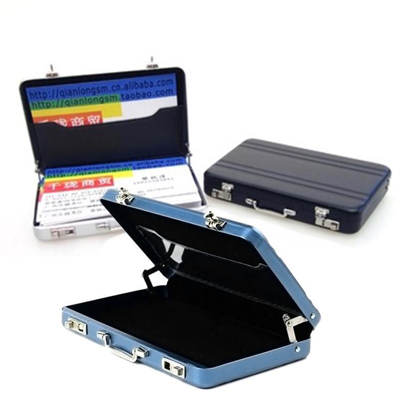 Hot Sale Mini Aluminum Suitcase Business Card Holder Bank Credit Id ...