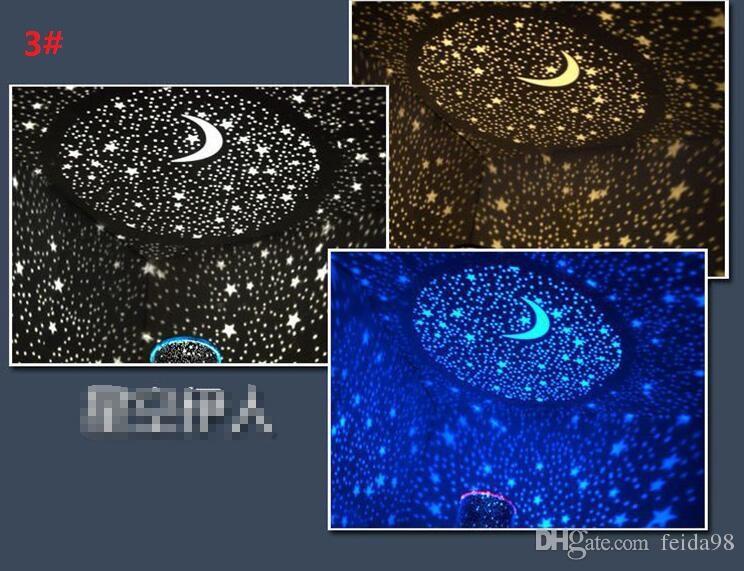 Nachtlampje De Sky Star Constellation Projector LED Star Master Sound Slaap Lamp Nachtverlichting Gratis verzending G614