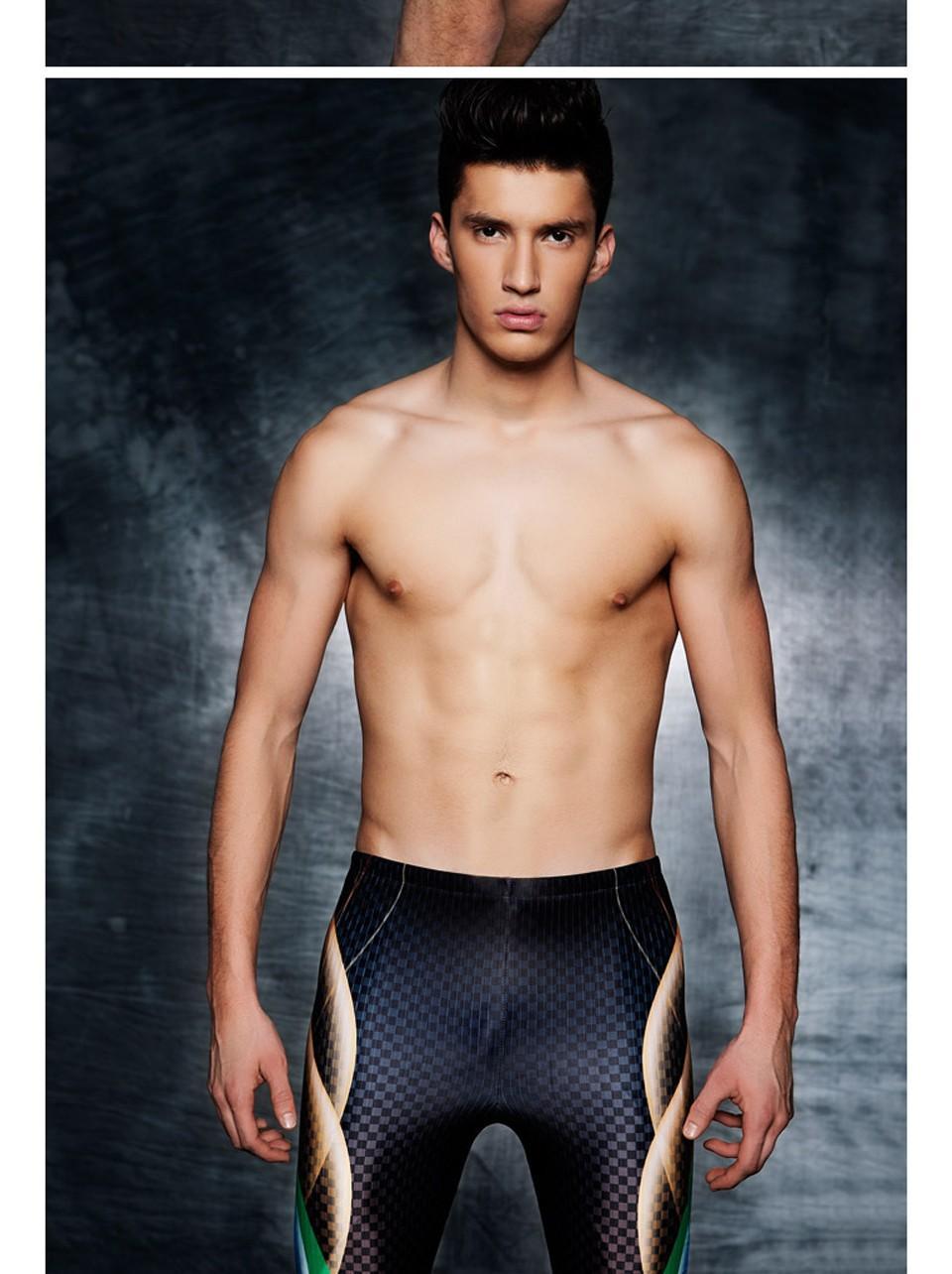 Maillot de bain Homme Costume Tech Professional Imprimé Compétition Racing Maillots De Bain Hommes Sport Maillots De Bain Short