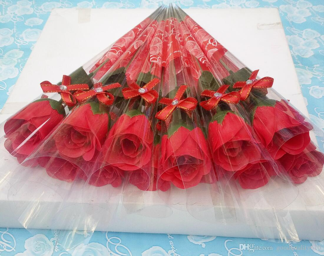 Artificial Soap Rose Flower For Wedding Party Birthday Souvenirs Gifts Favor Home Decoration