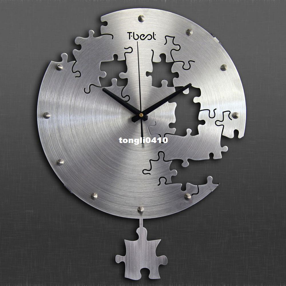 38x50cm Irregular Swing Wall Clock Wall Paste Living Room