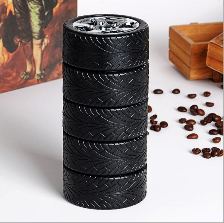 Tire Car Cup Water Bottle Creative Coffee Mugs Travel Stainless Steel Liner Outdoor Personalized Mugs Cool Water Bottles