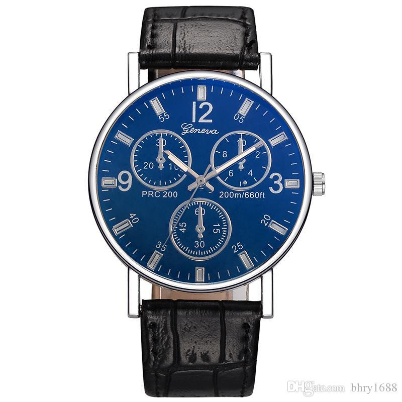 e4d4ebc75 Men Women Watches Three Eyes Luxury Watch Quartz Ladies Leather ...