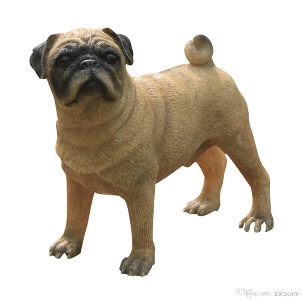 Beautiful 2018 Pug Dog Figurine Resin Dog Animal Statue Handmade Figurines Decoration  For Home And Garden Cherismas Gifts From Zonstore, $29.15 | Dhgate.Com