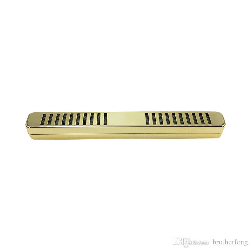 1 ADET Altın Renk Beyaz pas çelik metal Bar Tipi Tütün Puro Neme Nemlendirici Puro Nemlendirici Puro duman Aksesuarları