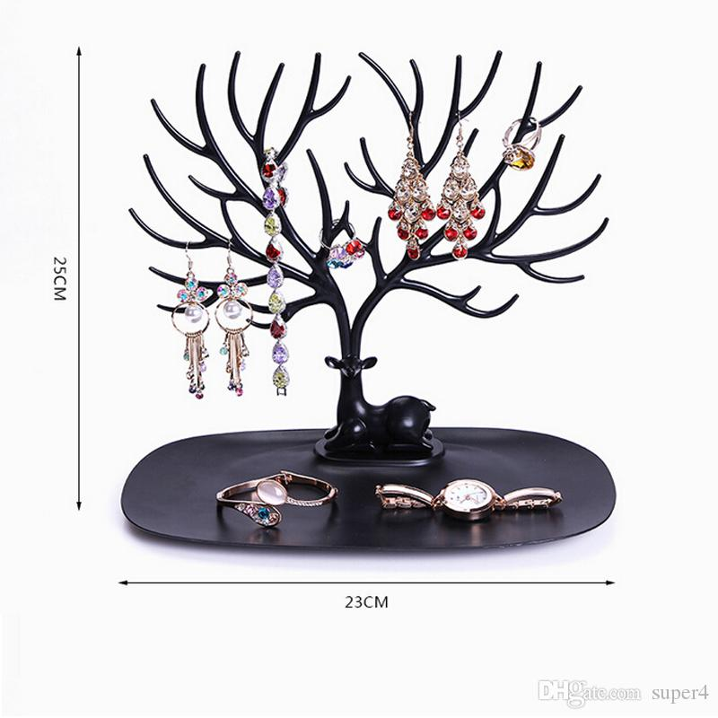 New Multifunctional Deer Shape Jewelry Display Earring Bracelet Necklace Ring Display Stand Nice Gift for lover girlfriend etc