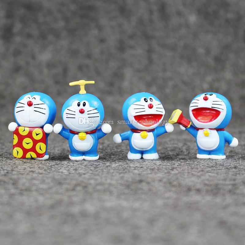 EMS 3.5-5cm 8 Styles Anime Doraemon PVC Figure Modèle collectable Modèle de collection pour enfants cadeau de Noël Livraison gratuite