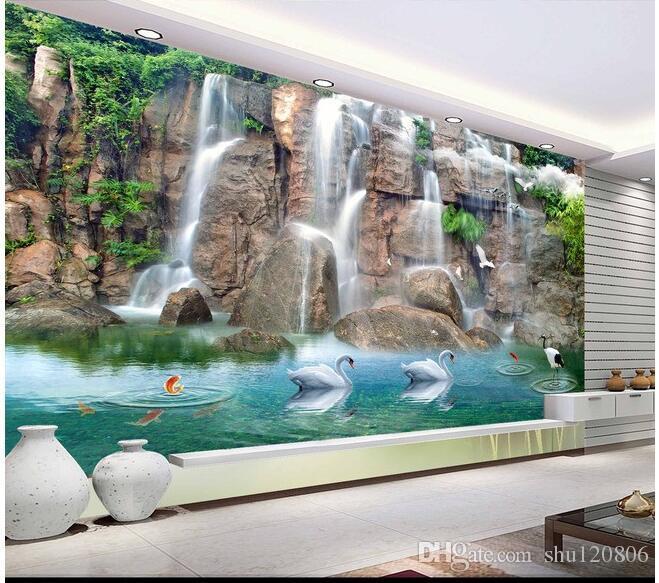 3d room wallpaper custom photo mural False mountain water falls decoration painting picture 3d wall murals wallpaper for walls 3 d