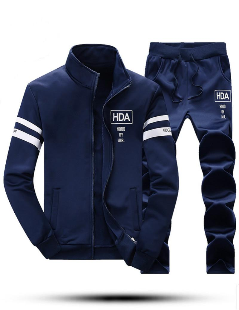 Wholesale-Mens Casual wear 2016 Fashion Autumn Winter Jacket+Pants Men's Hoodies Set Joggers Sweatshirts Tracksuit Baseball Suits