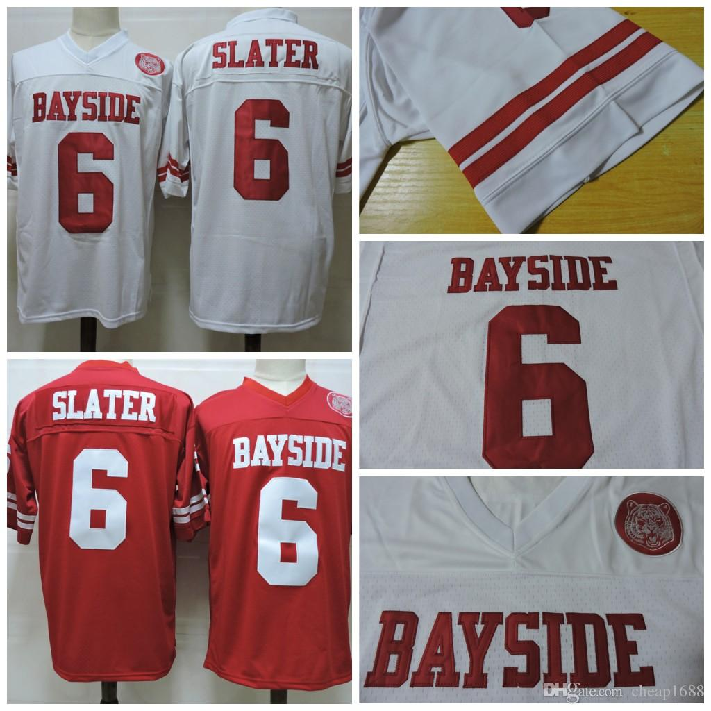 039c7bd18ebf 2019 Cheap Mens Red Saved By The Bell Movie Jersey White Stitched  6 AC  Slater Bayside Film Jersey Size S 3XL. From Cheap1688