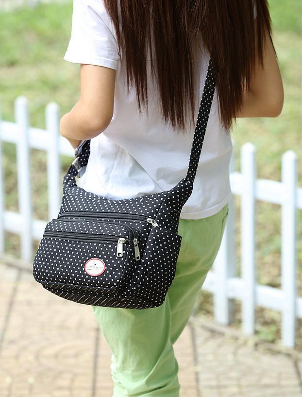 Новые женщины многофункциональный холст дизайнер плеча crossbody сумки женский вечерняя сумка черный / зеленый армии / кофе / фиолетовый / темно-синий цвет no61