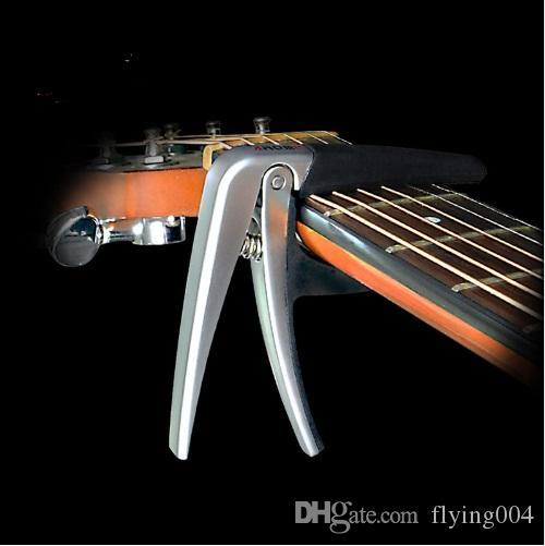 Spedizione gratuita AROMA Chitarra di alta qualità Capo in lega di zinco folk elettrico chitarra acustica Capo Cuscino in silicone Guitarra Capo