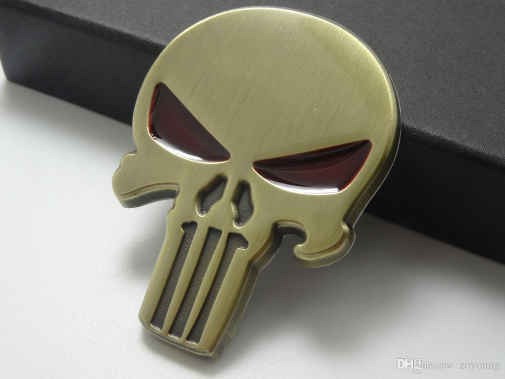 2019 3d punisher decal chrome car metal skull sticker car decals stickers copper from zoyoung 9 55 dhgate com