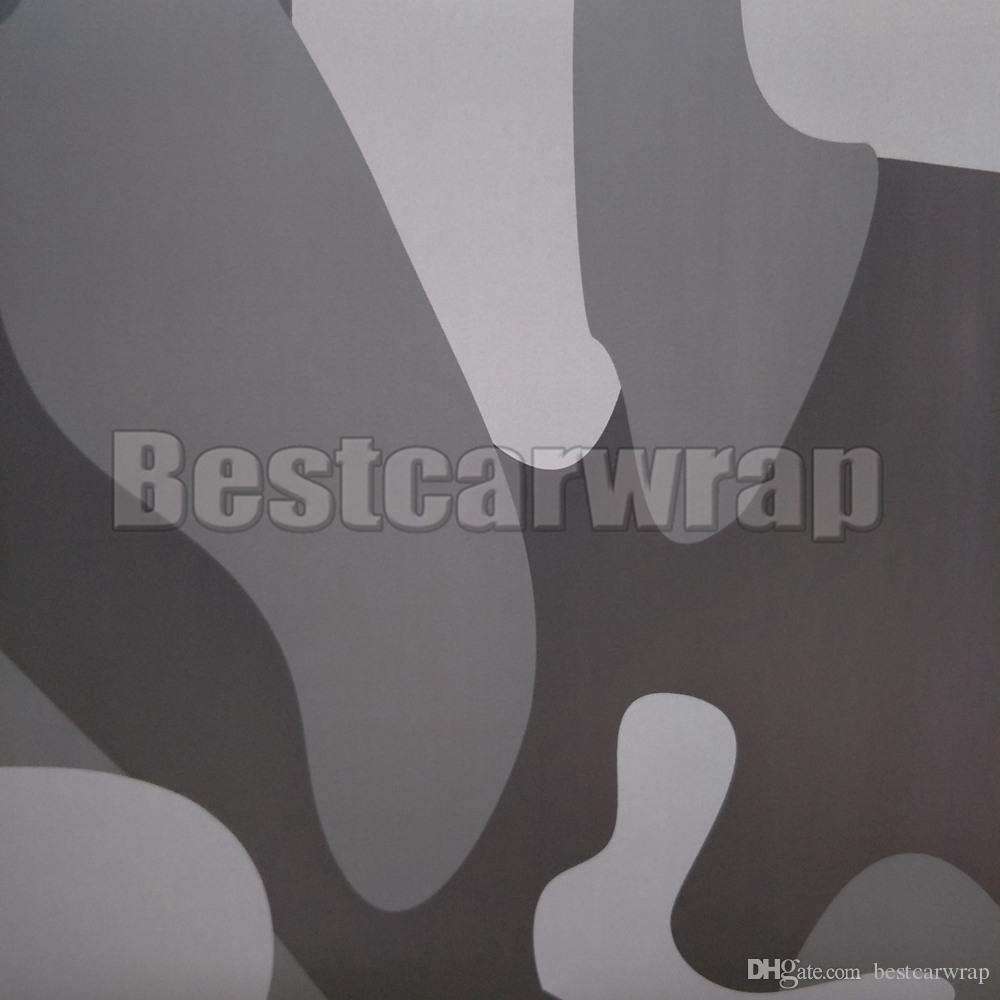 Large Black Gray Camo VINYL Full Car Wrapping Camouflage Foil Stickers with Camo truck covering foil with air free size 1.52 x 30m/5x98ft