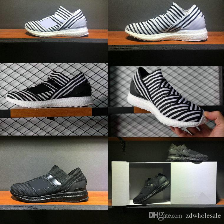 TOP Quality With Box Real Boost NEMEZIZ TANGO 17+ ULTRA BOOST Men Women  Size 36 45 Shoes Wholesale Sperry Shoes Silver Shoes From Zdwholesale aac15683de
