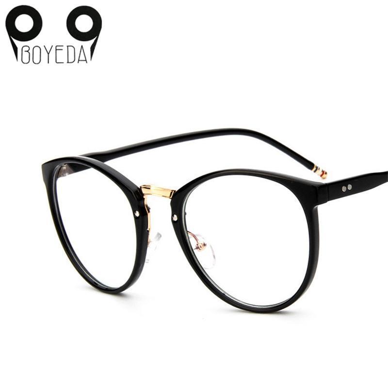 449c88a6e4c7b Compre Wholesale BOYEDA Marca Vintage Redondo Óculos De Armação Nova Moda Feminina  Grau Óculos Para As Mulheres Miopia Olho Óculos De Armação Óptica Óculos ...