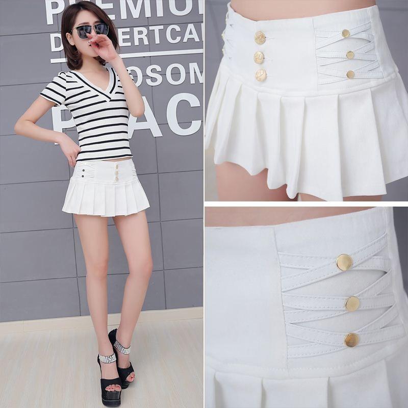 345b7f3329e 2019 Black White Pencil Pleated Micro Mini Skirt Women 2017 Summer Fashion  Stretch Night Club Sexy Womens Short Skirts Faldas Mujer From Marrisha, ...