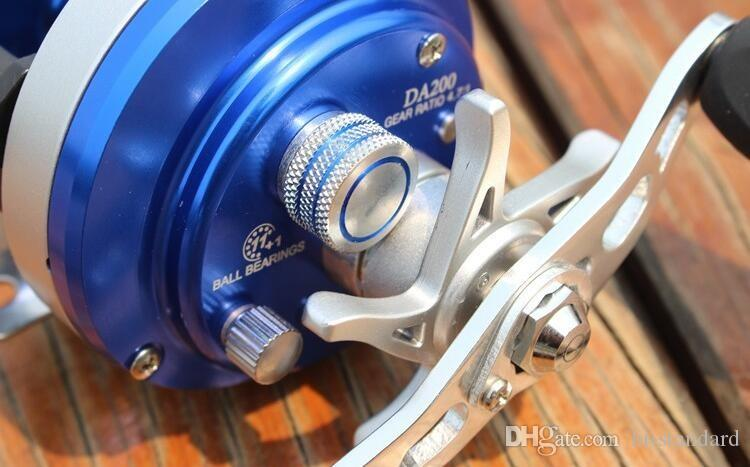 HOT DA200 12 + 1 mano sinistra / destra Round Baitcast Reel mini Bobine Baitcasting Mulinelli da pesca Tutti i metalli di alta qualità! DDL