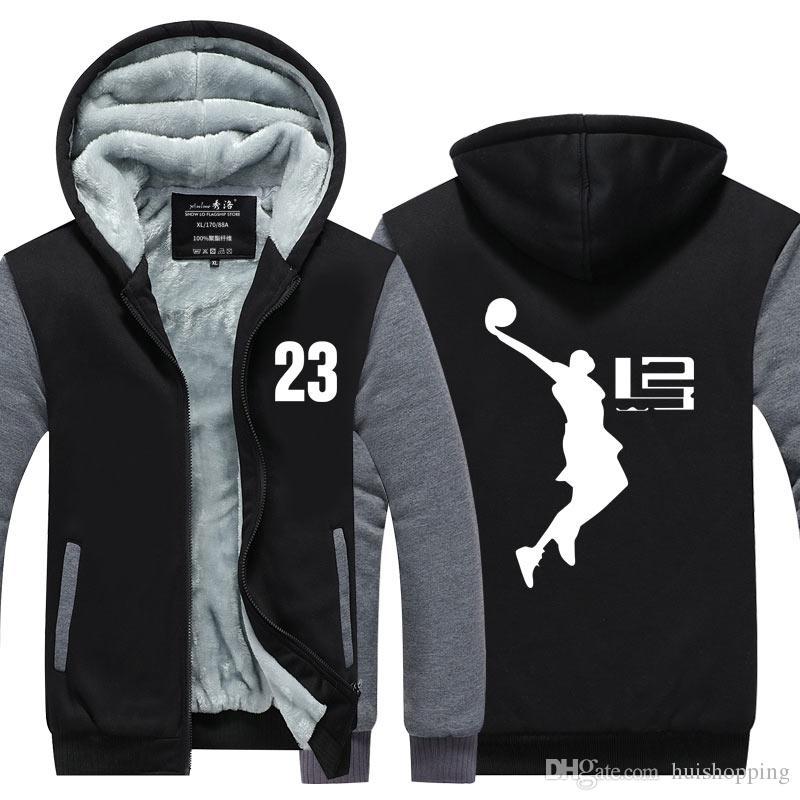9691818f 2019 New Cool Man Hoodie LeBron James Boy Jacket Men Long SleeveThicken  Fleece Zipper Tops Male Hot Sale USA EU Size Plus Size From Huishopping, ...