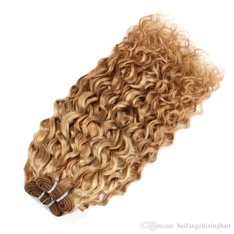 Pelo de Remy - paquete del pelo de la onda del agua 100% del pelo humano que teje TangleShedding libre 100g / pc / porción DHL libre