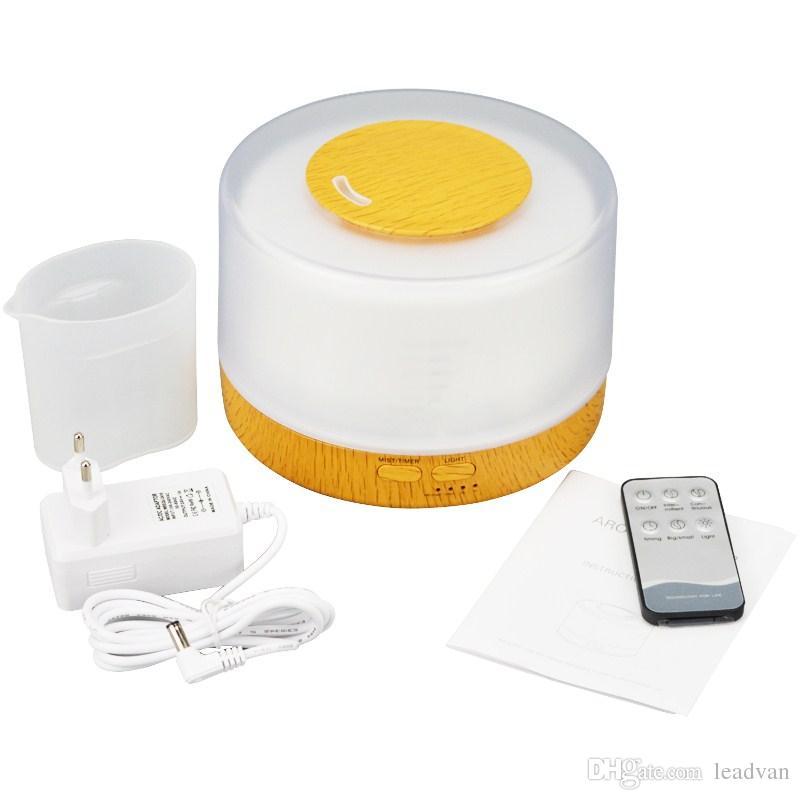 Humidificador portátil del aire del difusor del aceite esencial 500ml Difusor ultrasónico del aroma del difusor ultrasónico del fabricante del nebulizador de la niebla de Coloful