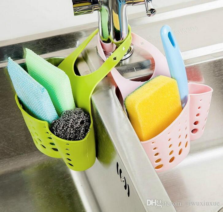 new multipurpose adjustable colorful pvc kitchen sponge cleaning cloth shelf storage rack holder organizador free shipping