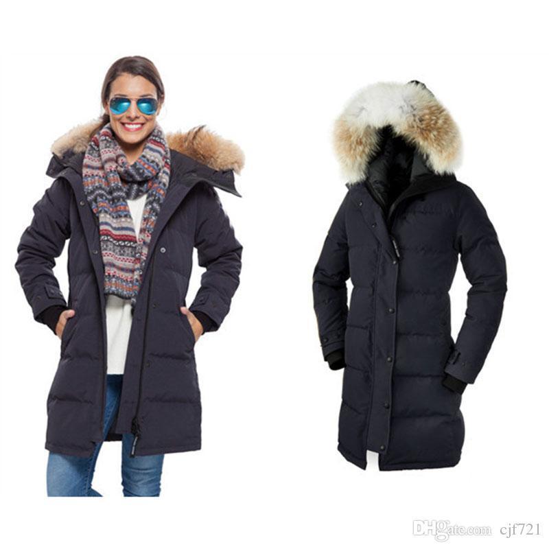 2017 Fashion Long Ladies Down Jackets Hoodie Down Jacket Best ...