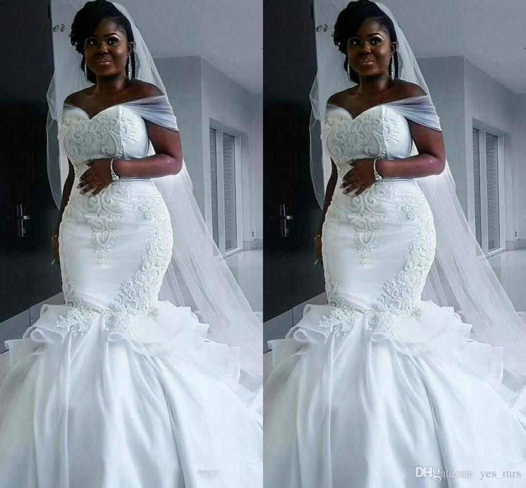 Compre 2018 Nueva Túnica Africana De Matrimonio Vestidos De Novia De ...
