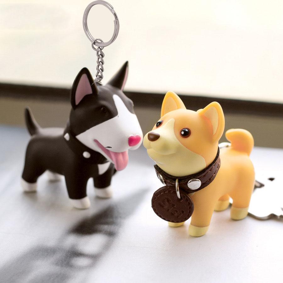Key Rings Anime Figure Dog Keychain Hand Painted Craft Dog Bull Terrier  Keychain PVC Vinyl Animal Figure Trinkets For Car UK 2019 From Jtgmall 5c38689ffb42