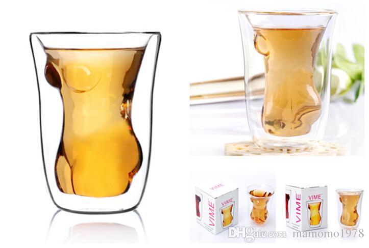 Handmade Beauty cup fashion creative fruit juice drink ice cream double glass red wine glass cup J1035