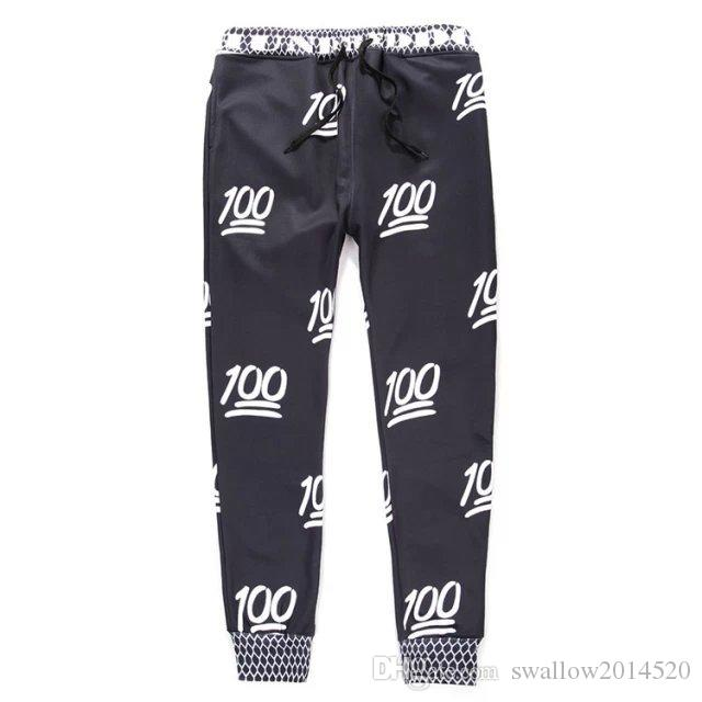 2017 New 100 emoji joggers pants +sweatshirt sets white/black for women/girl sweatpant trousers cartoon outfit clothes