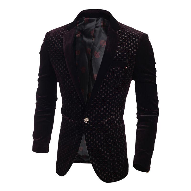 58464a65506 2019 Wholesale Mens Velvet Blazer Jacket Traje Hombre Slim Fit Corduroy Suits  Jacket For Men Casual Fashion Formal Social Coat Party Clothing From  Geraldi