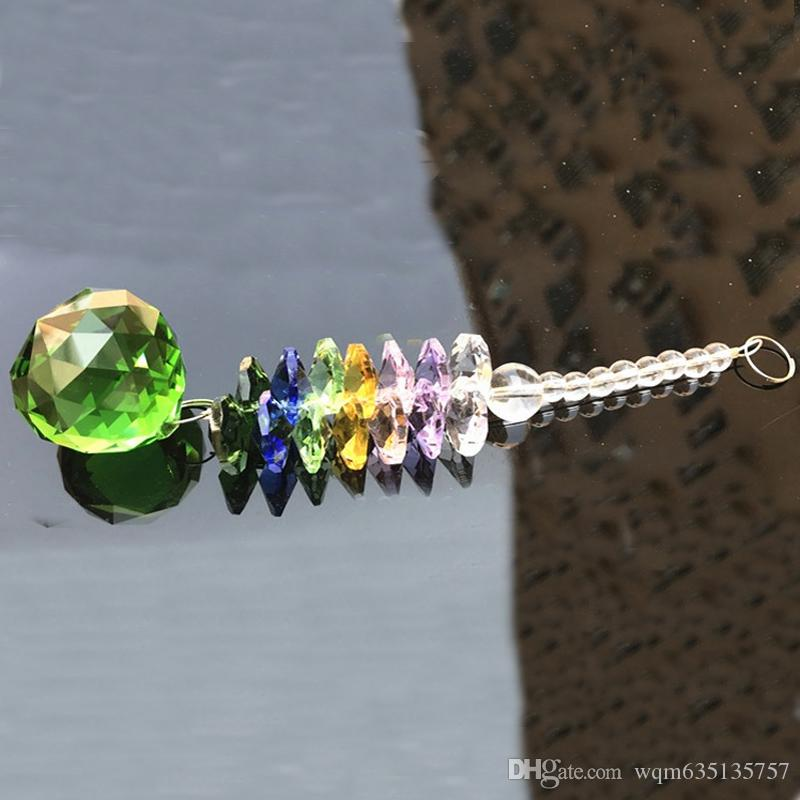 K9 Crystal Ball Suncatcher Feng Shui Prisms Pendant Pendulum Hanging Glass Window Decor 20mm W014