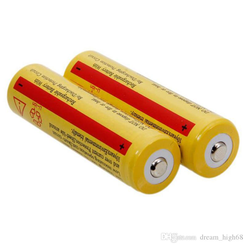 Yellow UltraFire 18650 High Capacity 5000mAh 3.7V Li-ion Rechargeable Battery For LED Flashlight Digital Camera Lithium Batteries Charger