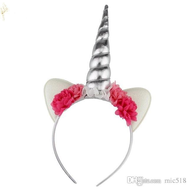 Glitter Metallic Unicorn Headband 024e494beaf