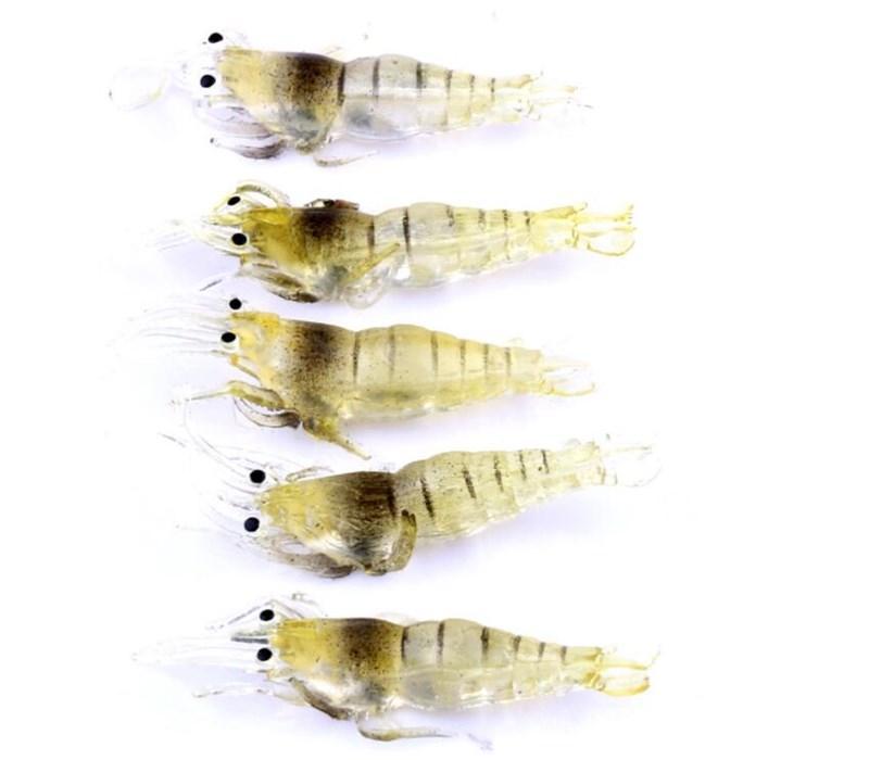 Top Grade Multi-color Grass Shrimp Soft Lures Prawn Fishing Bait 4.8cm 1g Lifelike Mini Swimbaits
