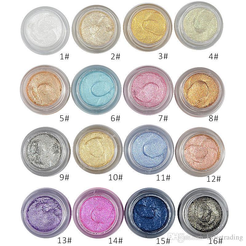 2017 nova 16 cores 3d eyeshadow amor alfa de longa duração 10g shimmer eye shadow creme de maquiagem do olho da marca de cosméticos