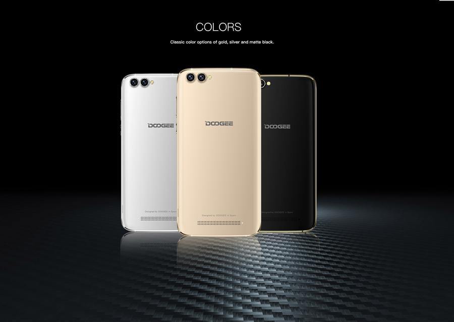 5.5 inch Original DOOGEE X30 Android 6.0 MT6580A Quad Core 3G WCDMA Smartphone 4 Camera 2GB Ram 16GB ROM SIM WIFI GPS Mobile Phone