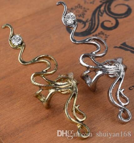 Rhinestone Ear Cuff Ear Clip Earrings for Women DHL Girl Gothic Charms Fashion High Quality Punk Cheap Price