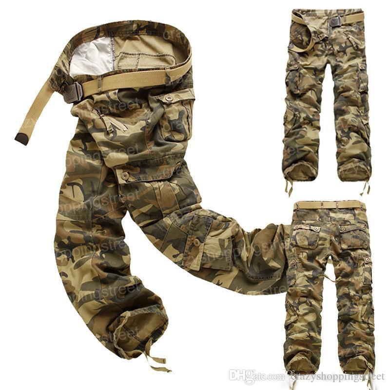 Il carico degli uomini CAMO pantaloni COMBATTIMENTO mens vendita dimensioni tuta mimetica pantaloni di alta qualità abbigliamento caldo dritto 28-40
