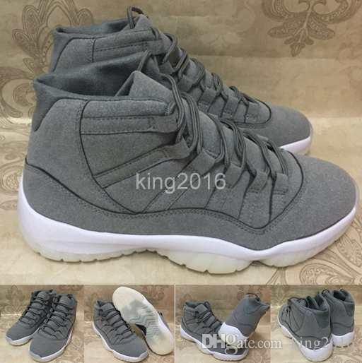 2017 New 11 XI PRM Grey Suede Men Basketball Shoes 11s Cool Grey Athletics  Trainers Cheap Sneakers For Sale Size 8 13 Athletic Shoes Shoes Online From  ... 674488cb1