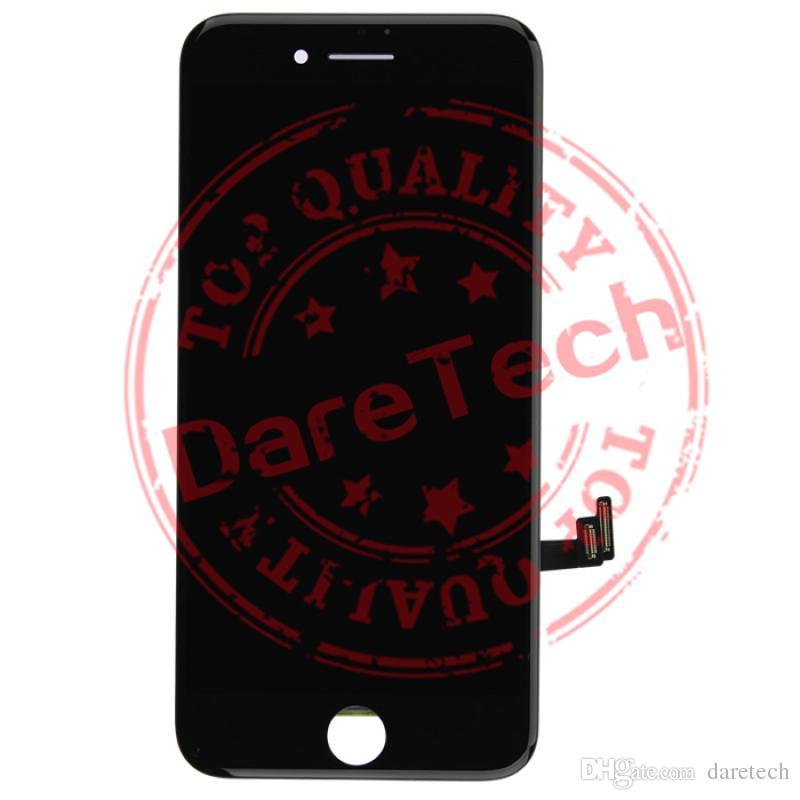 شاشة LCD تعمل باللمس إصلاح محول الأرقام الجمعية الإطار لفون أبيض أسود 7 7 زائد الشحن DHL مجانا