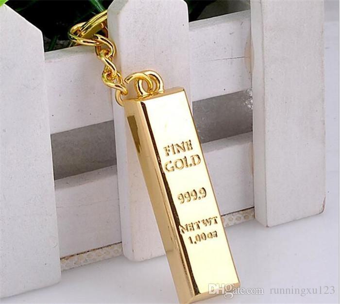 Corrente chave de ouro chaveiros de ouro chaveiros bolsa encantos pingente de metal key finder luxo homem carro chave anéis acessório R068