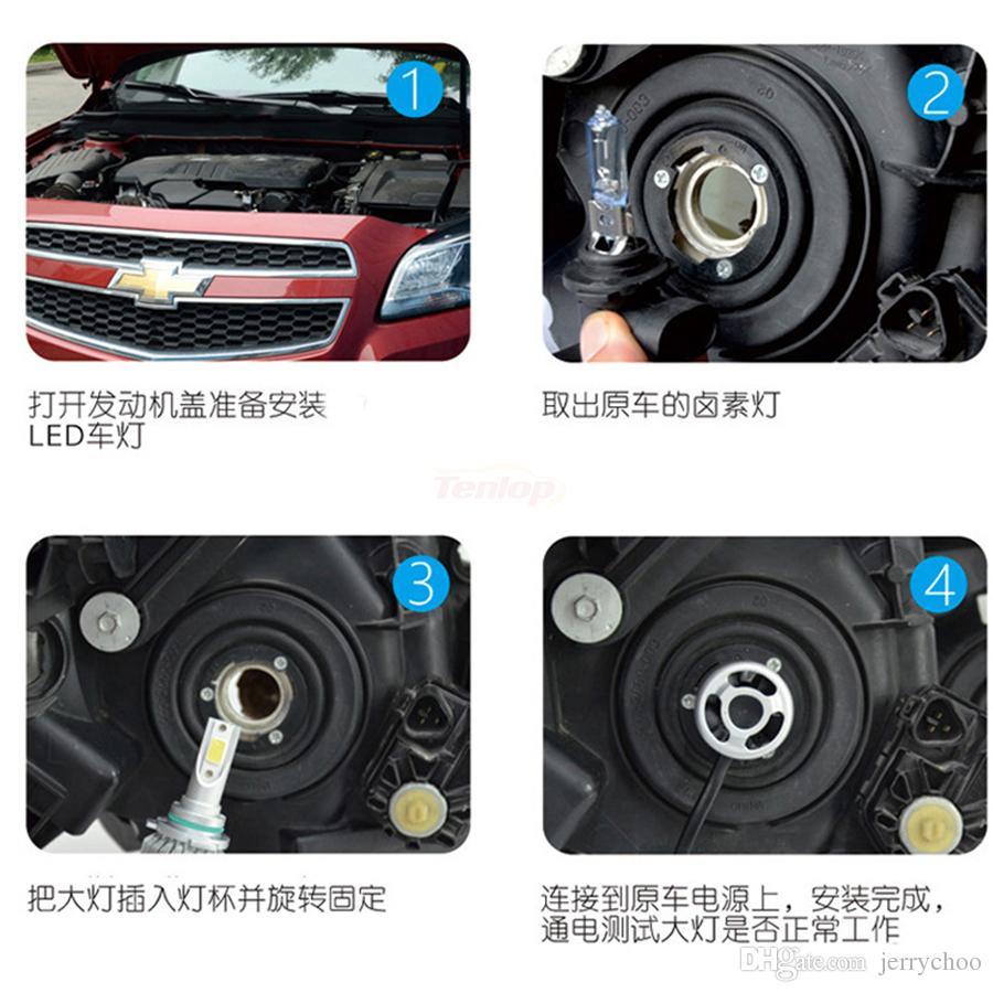 التوصيل والتشغيل العالمي 12V 24V H1 H4 H7 H13 H11 9005 9006 BRIDGELUX 72W 8000LM البوليفيين الصمام العلوي الصمام الضباب الخفيف للسيارة
