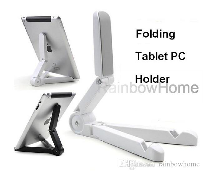 Mini Adjustable Desktop Stand Holder Folding Mount Shelf Bracket for iPad 3 Air Mini Kindle Fire Galaxy Tab Tablet PC with Retail Box
