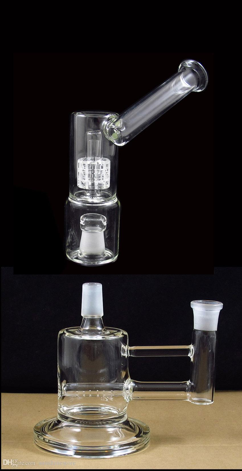New design VapeXhale hydratube sidecar perc with stand 7 Inches bubbler glass bong 5mm thickness